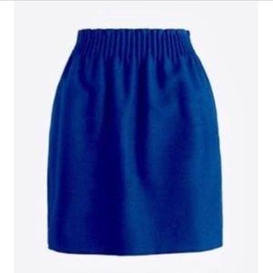 J. Crew City Mini Elastic Waist Wool Skirt 10